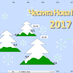 Новогодишна картичка за 2017 година от Robot Structural Analysis