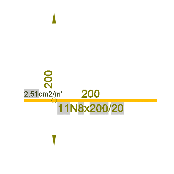 AutoCAD блок за площна армировка