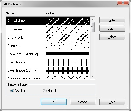 Revit new pattern