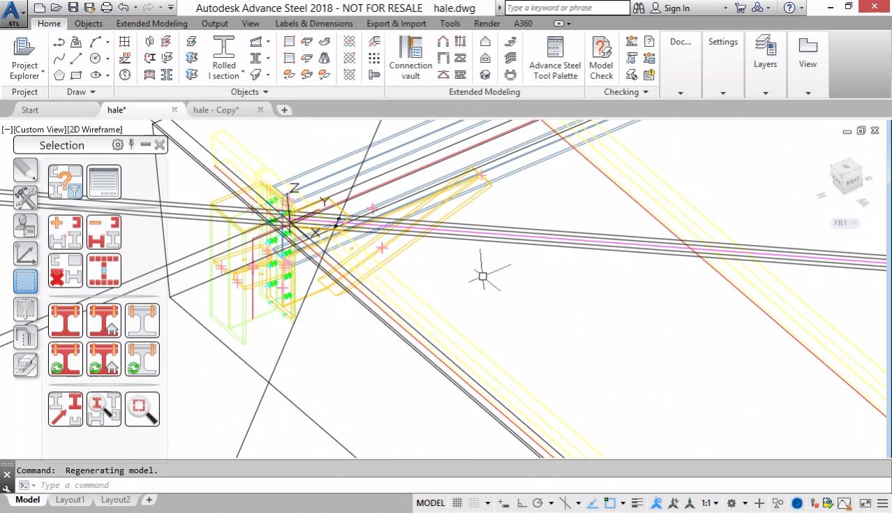 Моделиране на хоризонтална връзка. Моделиране на плочи (планки)