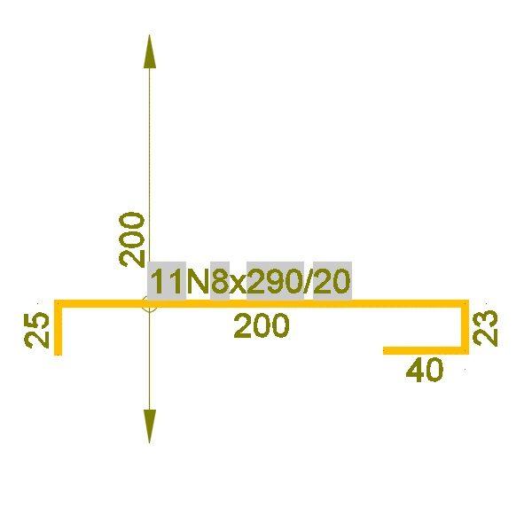 AutoCAD блок за площна армировка със закотвяне