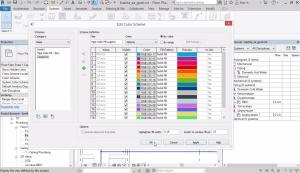 Определяне на загуби във водопровод. Видимост на елементи - Visibility Graphics Override. Видимост с филтри (filters). Цветни легенди в план