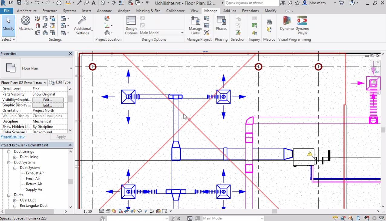 Оформяне на чертеж - настройки във Visibility Graphics. Типове линии. Добавяне на филтри