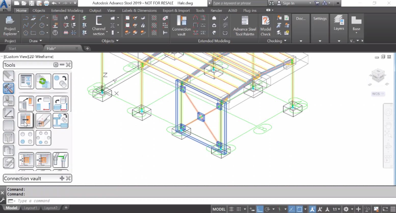 """Моделиране на столици и вертикална връзка. Моделиране на хоризонтална връзка """"на ръка"""" - завъртане на координатната система"""